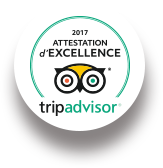 2017 Attestation d'Excellence tripadvisor
