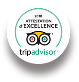 2018 Attestation d'Excellence tripadvisor